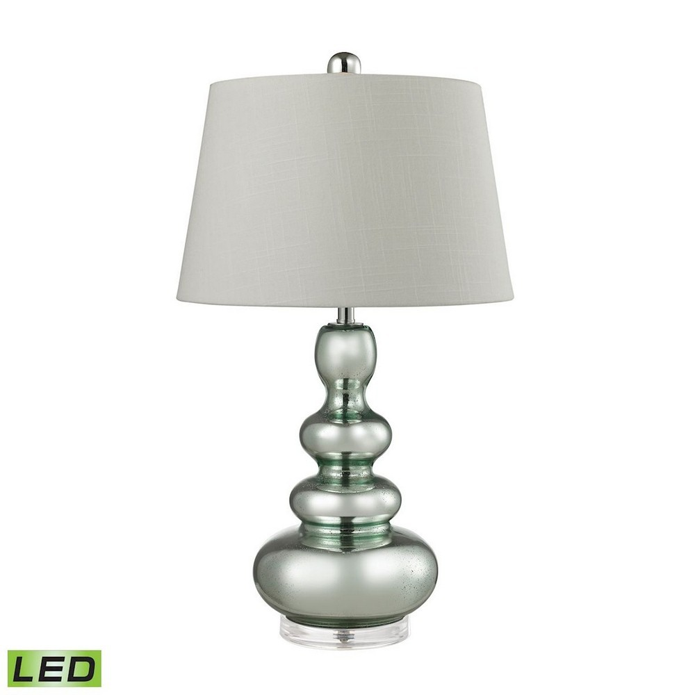 Dimond Lighting-D2557-LED-27 Inch 9.5W 1 LED Table Lamp  Light Green Finish with White Linen Fabric Shade