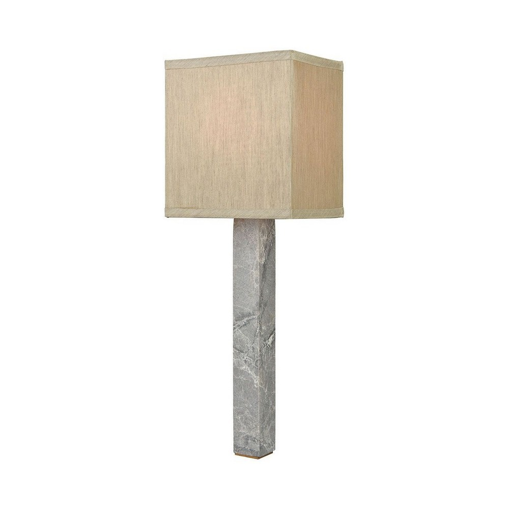 Dimond Lighting-D3686-Londinium - One Light Wall Sconce  Grey Marble/Aged Brass Finish with Taupe Fabric Shade