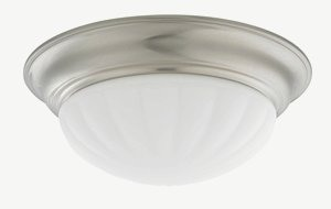 Dolan Lighting-10310-09-Tradizionale - 14 Inch Decorative Ceiling Trim  Satin Nickel Finish with Frosted Melon Glass