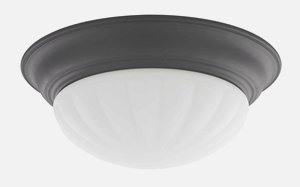 Dolan Lighting-10310-46-Tradizionale - 14 Inch Decorative Ceiling Trim  Warm Bronze Finish with Frosted Melon Glass
