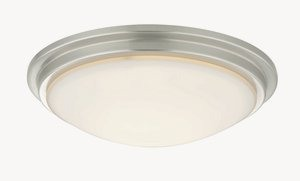Dolan Lighting-10330-09-Semplice - 11.25 Inch Decorative Recessed Ceiling Trim  Satin Nickel Finish with Satin White Glass