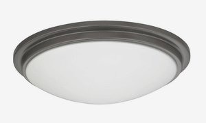 Dolan Lighting-10330-46-Semplice - 11.25 Inch Decorative Recessed Ceiling Trim  Warm Bronze Finish with Satin White Glass
