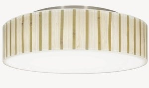 Dolan Lighting-10614-09-Galleria - 14.5 Inch Decorative Recessed Ceiling Trim  Satin Nickel Finish with Natural Bamboo/Resein Shade
