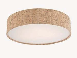 Dolan Lighting-10710-00-Naturale - 13 Inch Recessed Light Shade  Satin Nickel Finish with Natural Cork Shade