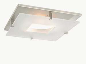Dolan Lighting-10846-09-Plaza - 11 Inch Decorative Recessed Ceiling Trim  Satin Nickel Finish with Frosted Glass