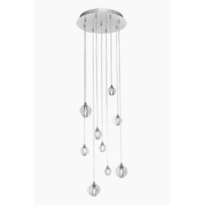 "ET2 Lighting E24506-91PC Harmony - 12"" 13.5W 9 LED Round Pendant"