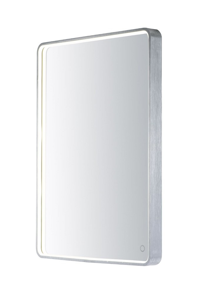 ET2 Lighting-E42014-90AL-31.5 Inch 25W 1 LED Rectangular Mirror  Brushed Aluminum Finish with Frosted Glass