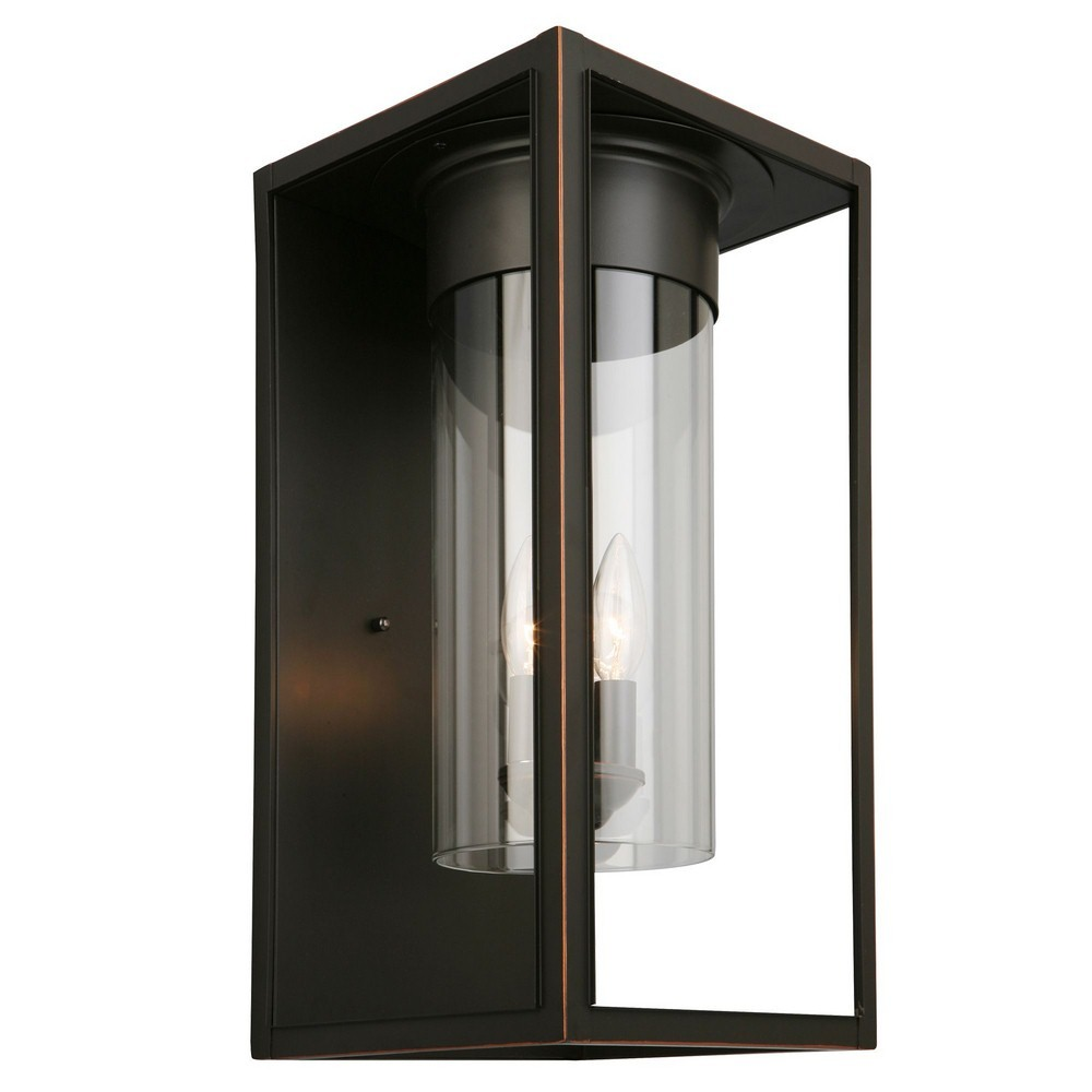 Eglo Lighting-203034A-Walker Hill - One Light Outdoor Wall Lantern  Oil Rubbed Bronze Finish with Clear Glass