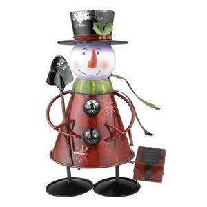 Solar - LED Outdoor Snowman Lamp
