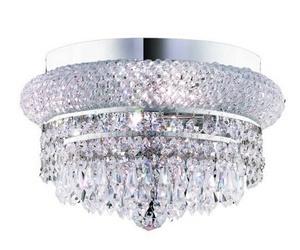 elegant lighting 1802f12c ss primo four light flush mount chrome finish with strass swarovski crystal crystal clear