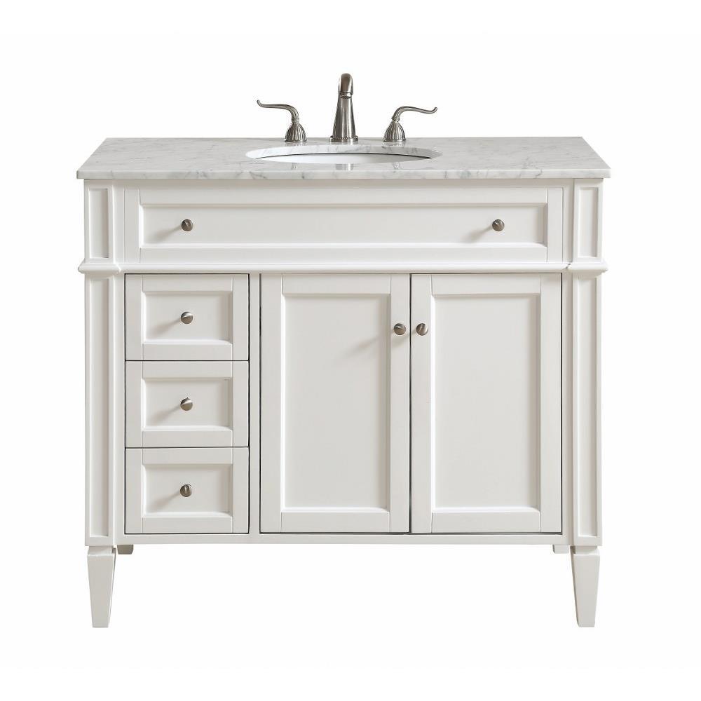 Elegant Decor Vf12540 Park Avenue 40 Inch 3 Drawer Rectangle Single Bathroom Vanity Sink Set