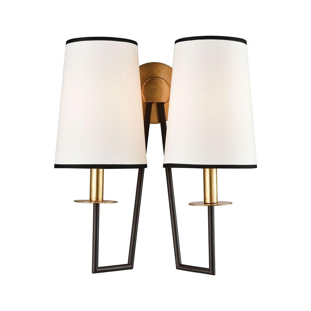 Elk Home 1141 077 On Strand Two Light Wall Sconce