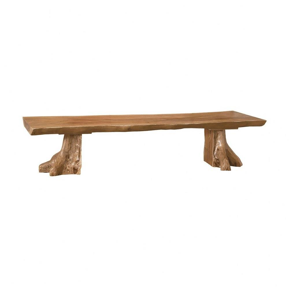 Elk Home 6517518et Leyburn South Traditional Style W Coastal Beach Inspirations Suar Wood Slab Bench 18 Inches Tall 74 Inches Wide