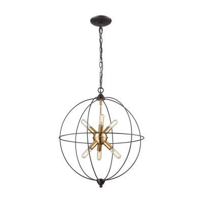 Elk lighting 145116 loftin six light chandelier mozeypictures Gallery