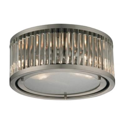 Elk lighting 46112 2 linden two light flush mount