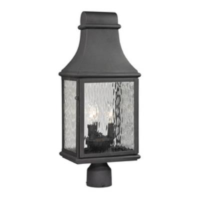 Elk lighting 470753 forged jefferson three light post lantern aloadofball Image collections