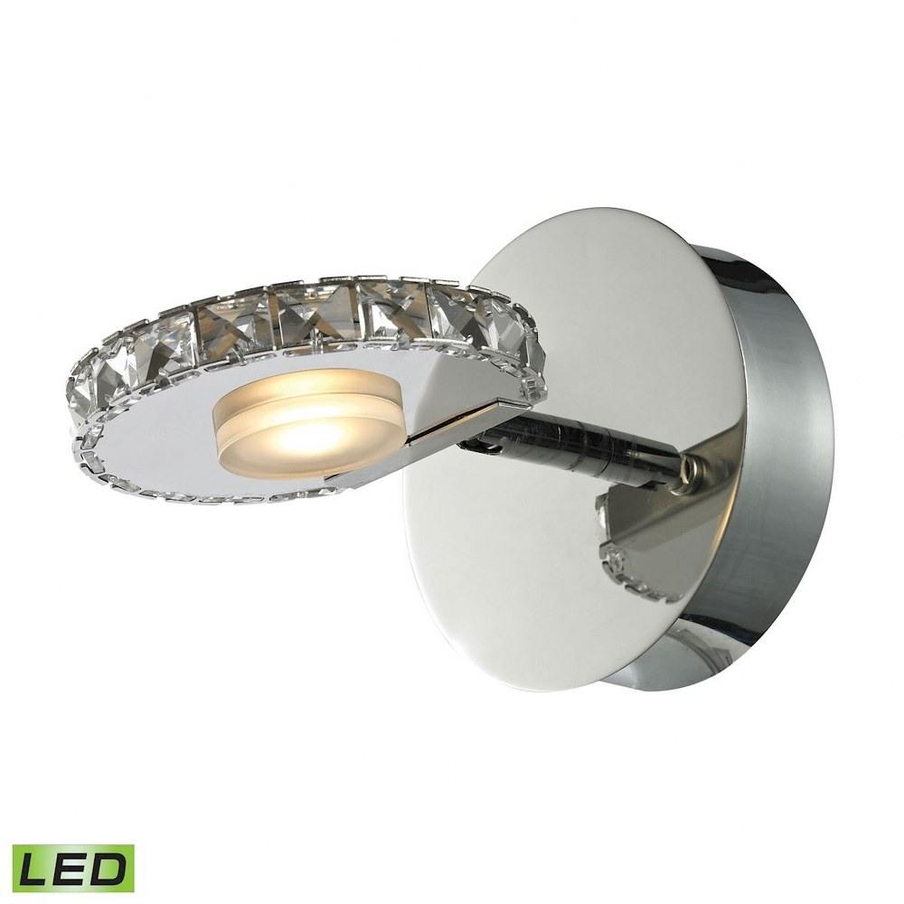 Elk Lighting-54000/1-Spiva - 5 Inch 4W 1 LED Bath Vanity  Polished Chrome Finish