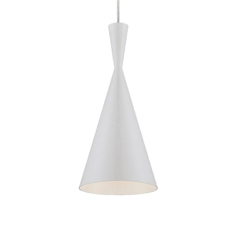 Eurofase Lighting-20437-039-Bronx - One Light Pendant  White Finish with White Glass