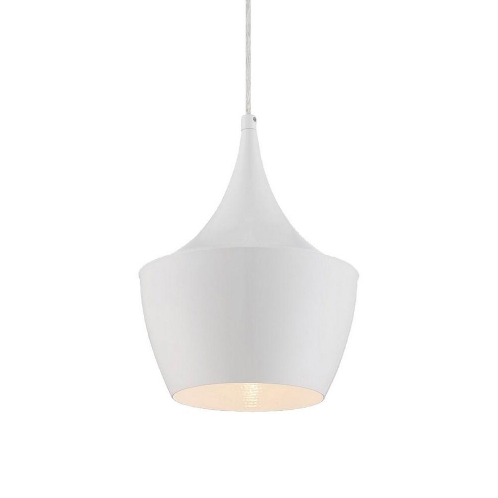 Eurofase Lighting-20438-036-Piquito - One Light Pendant  White Finish with White Glass