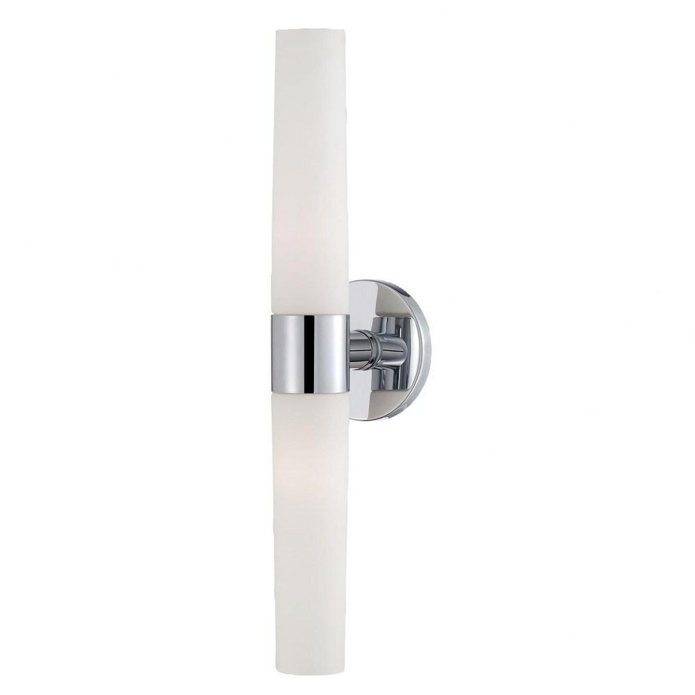 Eurofase Lighting-23274-013-Vesper - Two Light Wall Sconce  Chrome Finish with Opal White Glass