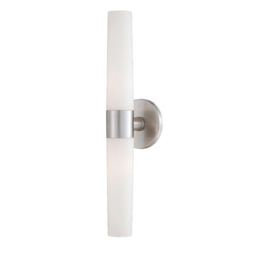 Eurofase Lighting-23274-020-Vesper - Two Light Wall Sconce  Brushed Nickel Finish with Opal White Glass