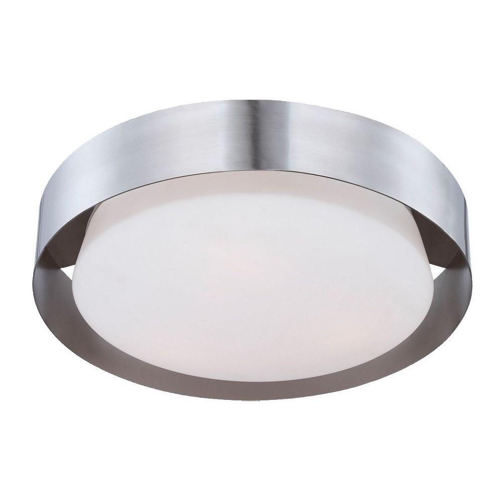 Eurofase Lighting-25732-016-Saturn - Three Light Flush Mount  Satin Nickel Finish with Opal White Glass