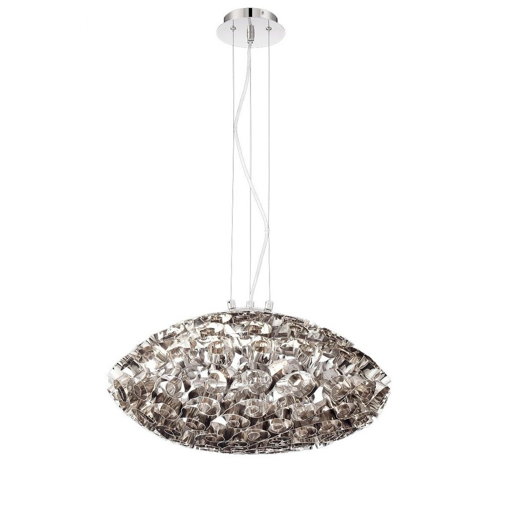 Eurofase Lighting 26341 019 Corfo Chandelier 6 Light Chrome Finish With Clear Faceted Crystal 1862799 Lighting Collection Corfo Width Diameter 12 50 Height