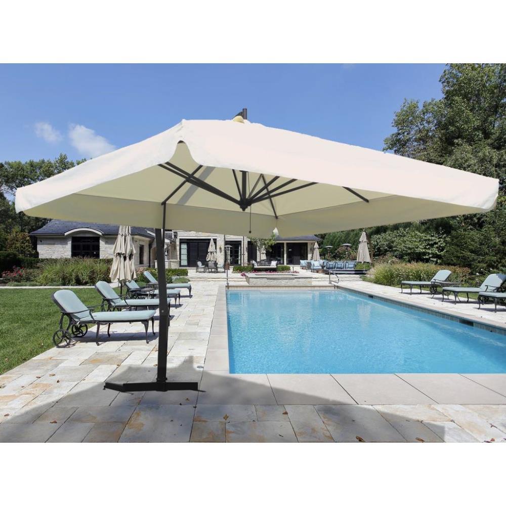 P-Series - 9 5' x 9 5' Square Giant Cantilever Umbrella