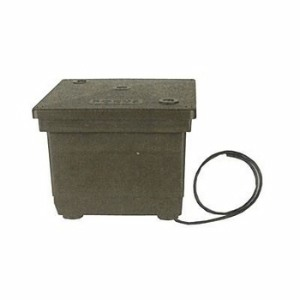 Focus Industries Db2126002c Direct Burial Transformer Twin Circuit Transformer With 2 Cores Black Texture Finish image