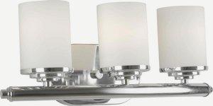 Forte Lighting-5105-03-05-Three Light Bath Bracket  Chrome Finish Satin Opal Glass