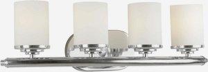 Forte Lighting-5105-04-05-Four Light Bath Bracket  Chrome Finish Satin Opal Glass