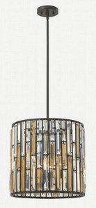 Fredrick Ramond Lighting-FR33734VBZ-Gemma - Three Light Small Foyer  Vintage Bronze Finish