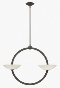 Fredrick Ramond Lighting-FR40754VBZ-Method - Four Light Chandelier  Vintage Bronze Finish with Etched Opal Glass