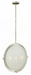 Fredrick Ramond Lighting-FR43913SLF-Helios - Three Light Foyer  Silver Leaf Finish with Clear/Etched Glass