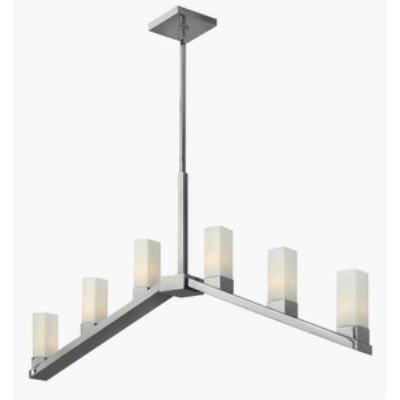 Fredrick Ramond Lighting FR47206PNI Omni - Six Light Linear Chandelier