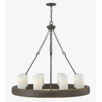 Fredrick Ramond Lighting FR48439IRN Cabot - Eight Light Chandelier