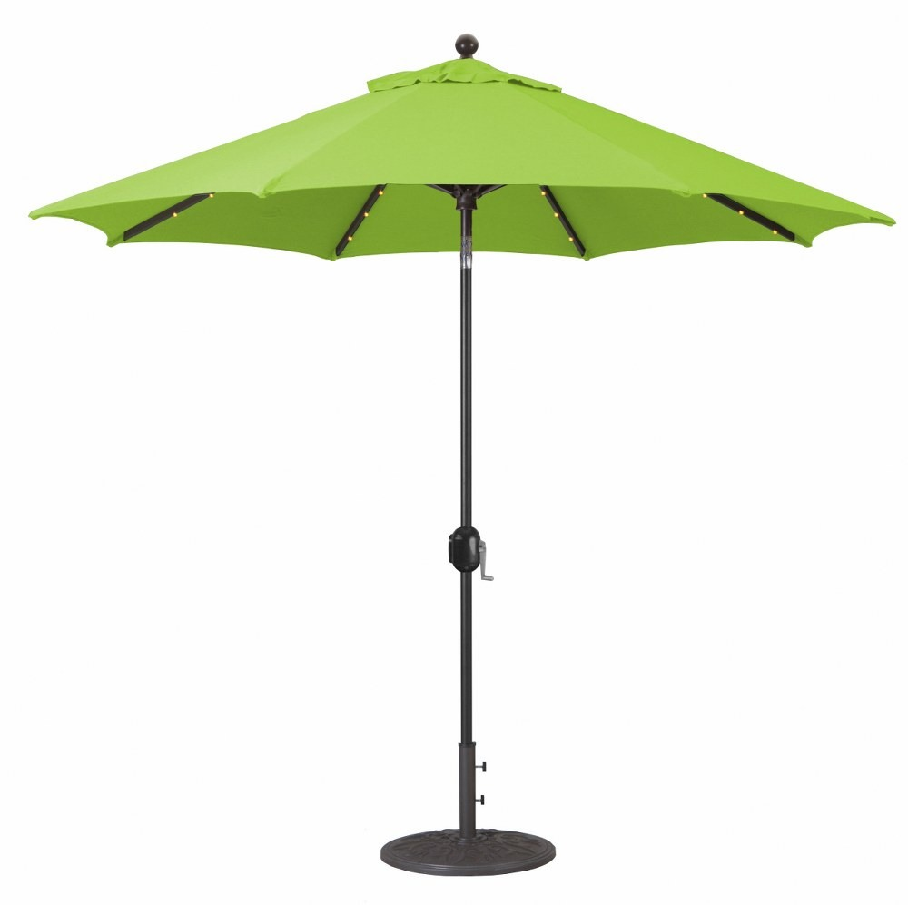 Galtech International-936AB46-9' Octagon Umberalla with LED Light 46: Parrot AB: Antique BronzeSunbrella Solid Colors - Quick Ship