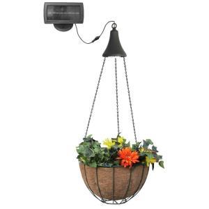 "7.5"" 6 LED Hanging Solar Spotlight with Planter Basket"