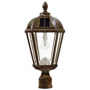 """Royal - 89"""" 11 LED Single Solar Lamp Post with GS Solar Light Bulb"""