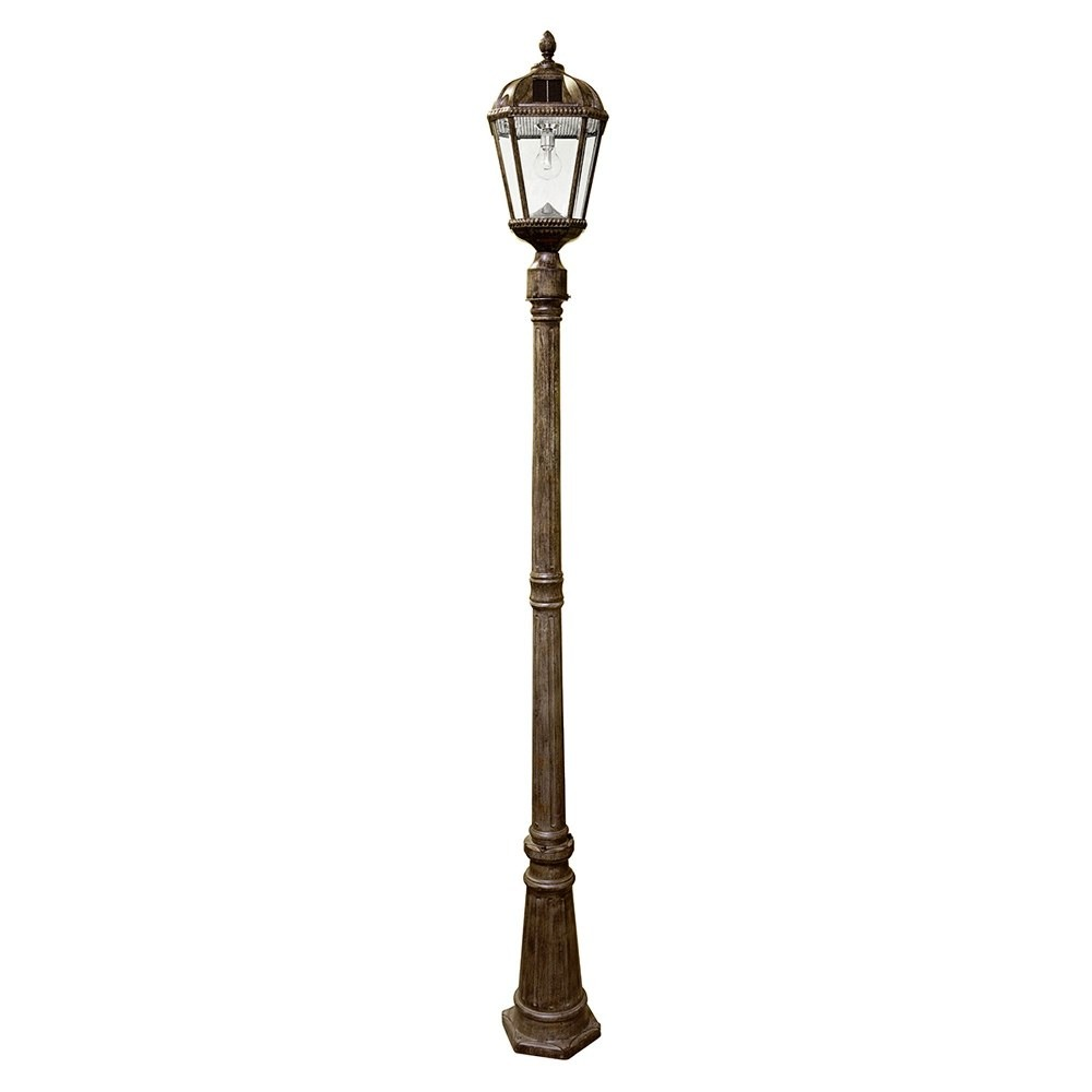 Gama Sonic-GS-98B-S-WB-Royal - 18 Inch 11 LED Solar Light with GS Solar Light Bulb and 3 Inch Fitter  Weathered Bronze Finish with Clear Glass