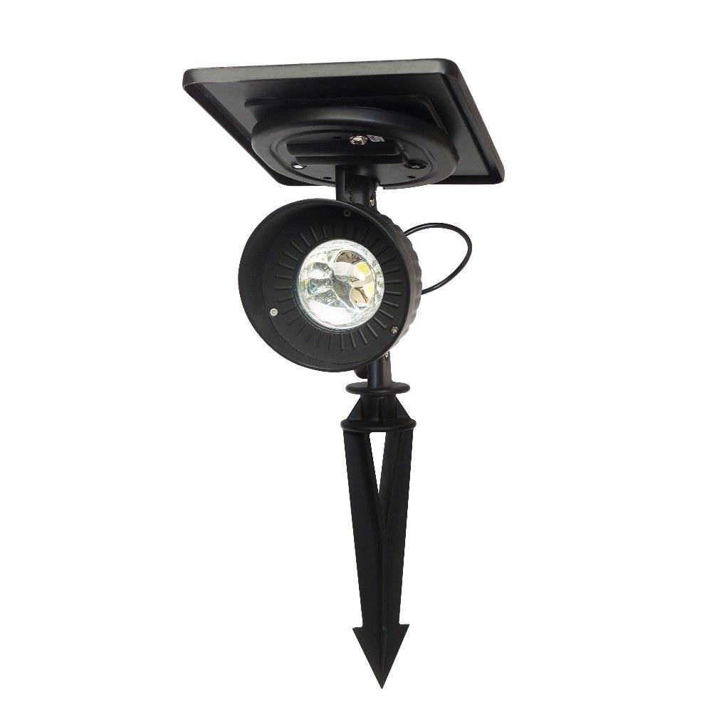 Gama Sonic-GS-103-WW-16 Inch 1 LED Progressive Solar Spotlight  Black Finish