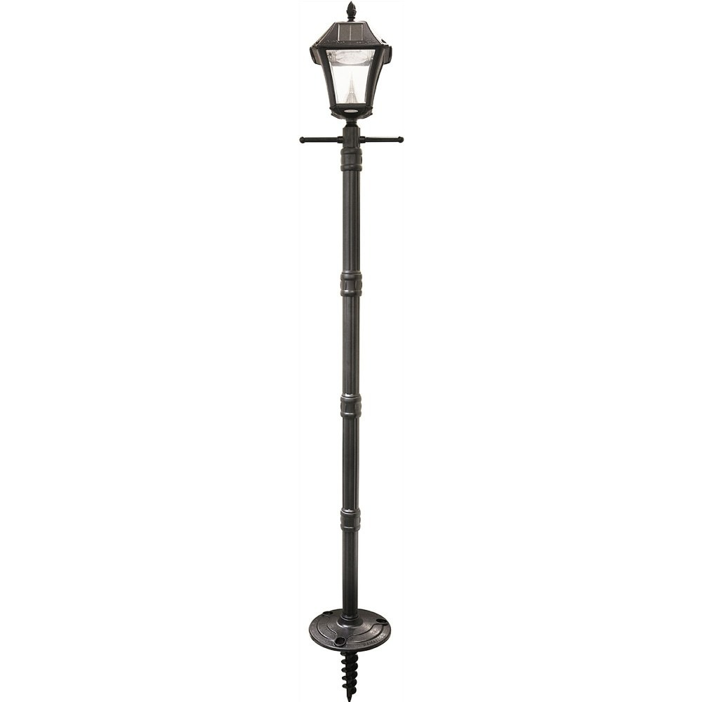 Gama Sonic-GS-105S-G-Baytown II - 77 Inch 24W 10 LED Outdoor Post Lamp  Black Finish with Clear Glass