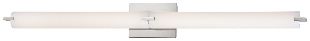 George Kovacs Lighting-P5046-077-L-Tube - 39.75 Inch 80W 2 LED Bath Vanity  Chrome Finish with Etched Opal Glass