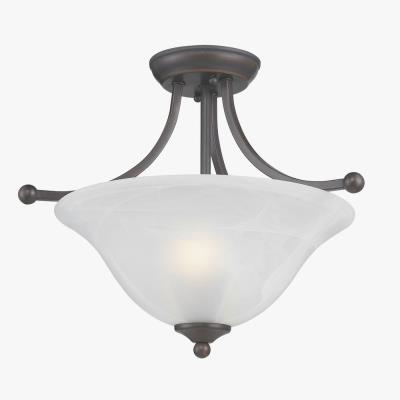 Golden Lighting 1260-SF Candace - Two Light Semi-Flush Mount