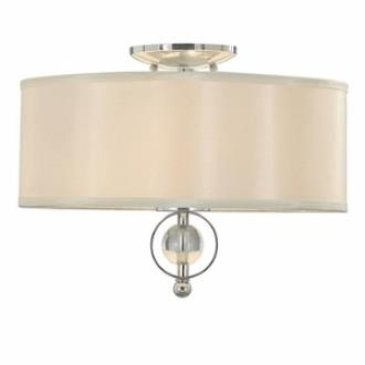 Golden Lighting 1030-FM CH Cerchi - Two Light Flush Mount
