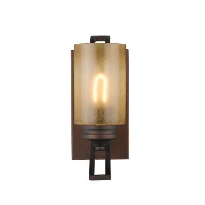 Golden Lighting 1051-BA1 SBZ Hidalgo - One Light Wall Sconce