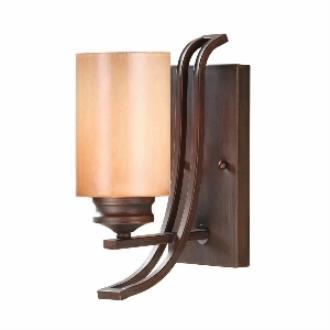 Golden Lighting 1051-BA1 SBZ Hidalgo - One Light Wall Sconce