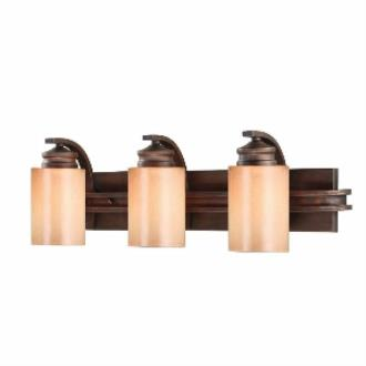Golden Lighting 1051-BA3 SBZ Hidalgo - Three Light Vanity