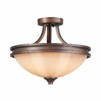 Golden Lighting 1051-SF SBZ Hidalgo - Two Light Semi-Flush Mount