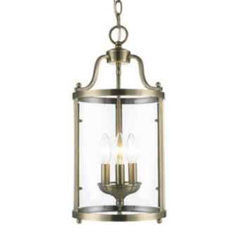 Golden Lighting 1157-3P AB Payton - Three Light Pendant